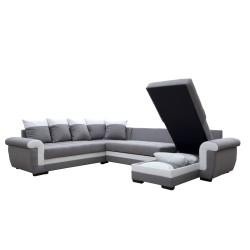 Canapé Panoramique gauche lux 05 / blanc - MOKKA 6