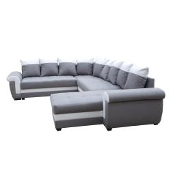 Canapé Panoramique gauche lux 05 / blanc - MOKKA 2