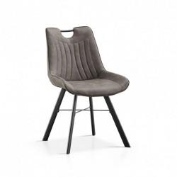 Chaise - PABLO gris foncé 1