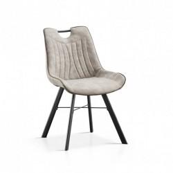 Chaise - PABLO gris clair 1