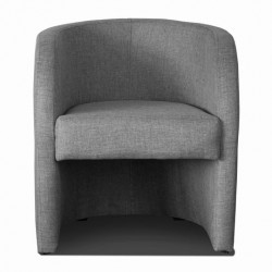 Fauteuil cabriolet LILLY Tissu gris 4