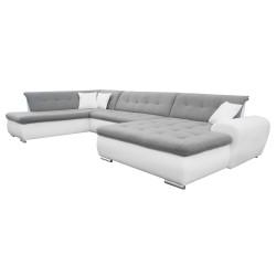 Canapé Panoramique Convertible VERONA gris clair et blanc 2