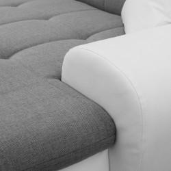 Canapé Panoramique Convertible VERONA gris clair et blanc 9