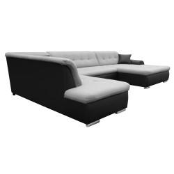 Canapé Panoramique Convertible VERONA gris clair et noir 4
