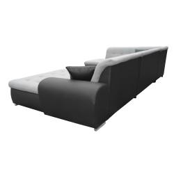 Canapé Panoramique Convertible VERONA gris clair et noir 5