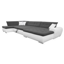 Canapé Panoramique Convertible VERONA gris foncé et blanc 5