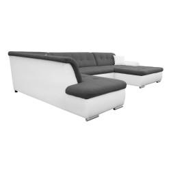 Canapé Panoramique Convertible VERONA gris foncé et blanc 6