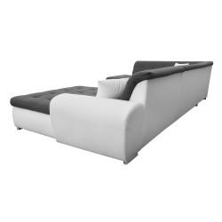 Canapé Panoramique Convertible VERONA gris foncé et blanc 7