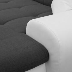 Canapé Panoramique Convertible VERONA gris foncé et blanc 10